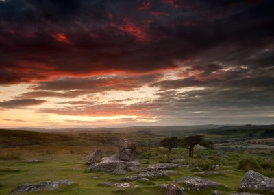 Fire In The Sky (Combestone Tor, Dartmoor)